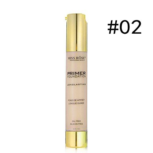 HD Long Lasting High-Definition Highlighter And Bronzer Matte Effect Makeup Liquid Primer Cream Foundation (02)