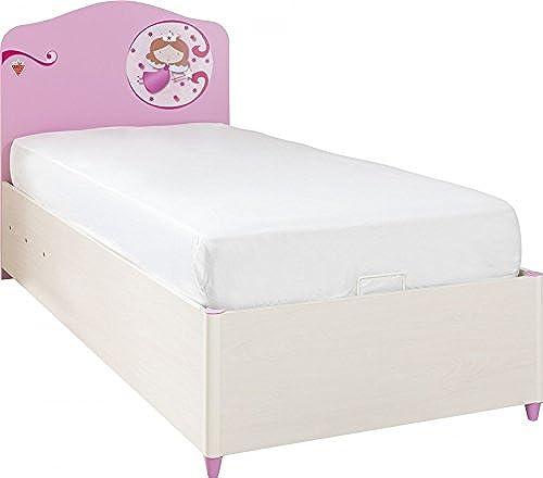 Froschk g24 Cilek Princess Kinderbett Bettkasten Bett Kinderzimmer WeißRosa, Matratze mit