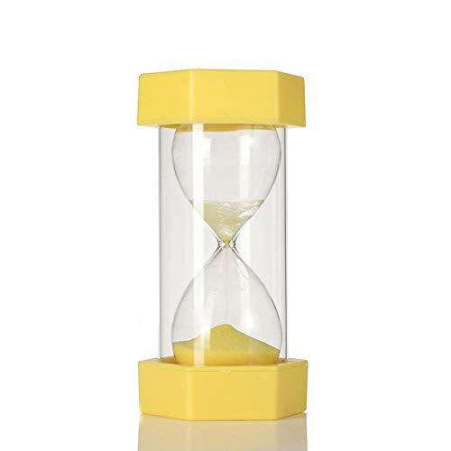 QWSNED Reloj de arena, temporizador de reloj de arena de 5 a 30 minutos, cepillo el temporizador de los dientes, temporizador de juego de aula, reloj de arena amarilla