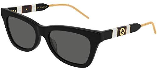 Gucci GG0598S-001-53 Gafas, Black/Grey, 53.0 Unisex Adulto