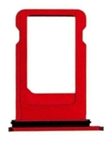 Desconocido Bandeja SIM para iPhone 8 Plus, A1864, A1897, A1905, Soporte Adaptador Porta Tarjeta Nano (Rojo)