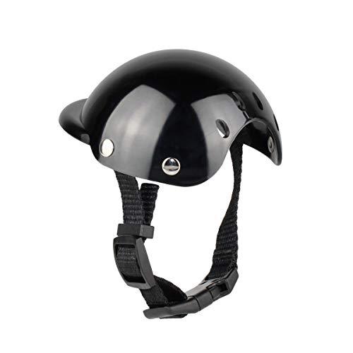 Petyoung Casco de Perro Mascota Sombrero Divertido Casco de Motocicleta de Plástico Fresco para Proteger La Cabeza a Prueba de Sol Suministros para Mascotas a Prueba de Lluvia para Cascos