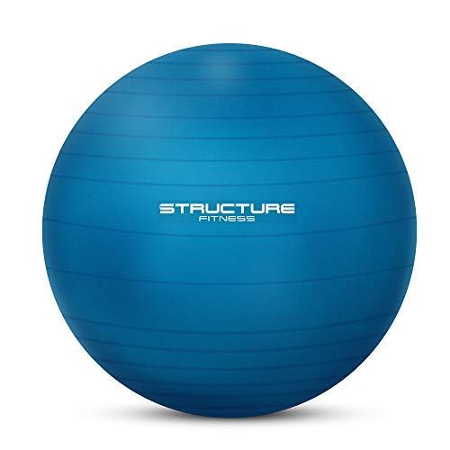 Structure Fitness Anti-Burst Yoga and Exercise Gym Ball with Hand Pump (75cm, Blue)