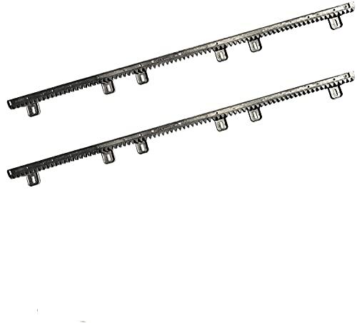 VDS 2x Zahnstangen, je 1 Meter, Schwarz, für Schiebetorantrieb Torantrieb Tor Antrieb Ersatzteil