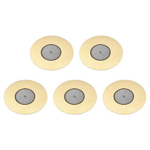 sourcing map Discos piezoeléctricos de 50 mm Pastilla acústica de Transductor, Zumbador de cerámico para Batería y Guitarra 5 unidades