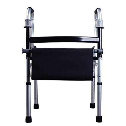 Marco para Caminar Ayuda para Caminantes estándar con Asiento Soporte para apoyabrazos Aleación de Aluminio Gruesa Rehabilitación Auxiliar Vida Diaria Viajes para Ancianos discapacitados
