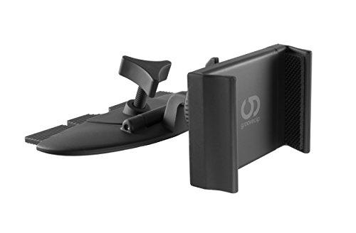 grooveclip® CD2 Slider | KFZ Handyhalterung für den CD-Schlitz | Handy-Halterer mit Slider-Technologie | passt in jeden gewöhnlichen Auto CD-Player | universell für Apple iPhone Samsung Navi UVM