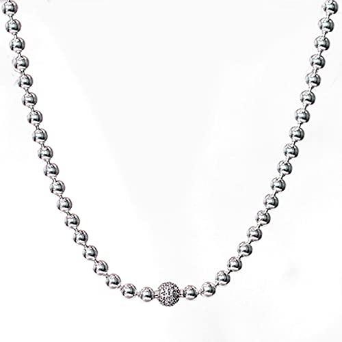 TTGE Beads & Pave Rose Gold Sphere Clasp Collezione Essence Collana di Perline per 925 Sterling Silver Bead Charm Pandora Gioielli Fai da Te