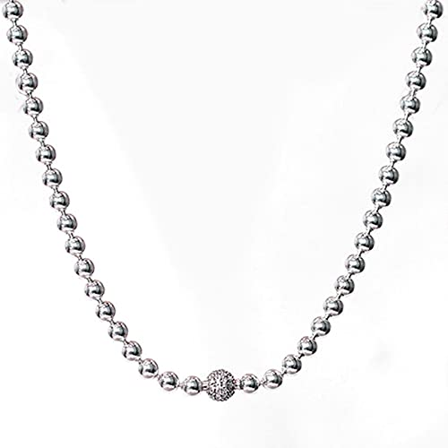 TTGE Beads & Pave Broche de Esfera de Oro Rosa Colección Essence Collar de Cuentas para abalorio de Plata de Ley 925 Pandora Joyería de Bricolaje