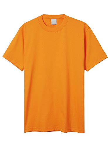 Hat and Beyond Mens Super Max T Shirt Heavyweight Solid Short Sleeve Tee S-5XL (1ks06_Orange/4X Tall)