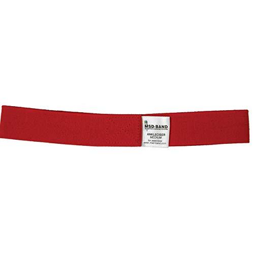 MSD Correa elástica para tobillos, color rojo, Resistencia Media, Ankleciser, correa elástica, para Rehabilitación de Tobillos