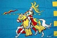 Ritter auf Pferd Fahne blau ca. Größe 150 x 90 cm Flagge