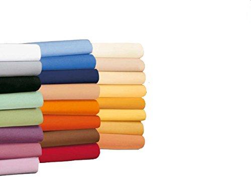 #22 badtex24 Jersey Spannbettlaken, Spannbetttuch, Bettlaken, 90x190 cm – 100x200 cm, Weiß