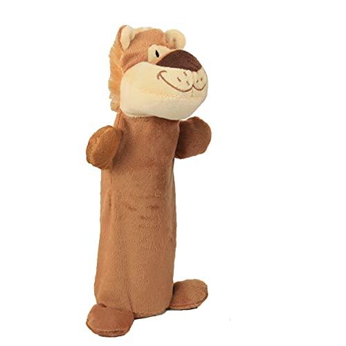 Juguetes de peluche de botellas de mascotas, jirafa, león, leopardo, tigre,...