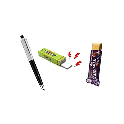 Amazing Electric Shock Current Pen Chiggum & Shock Chocolate Shocking Current Chocolate for Party & Friends with Prank Jokes Funny injoy Kidding Gag Toys Gag Toy