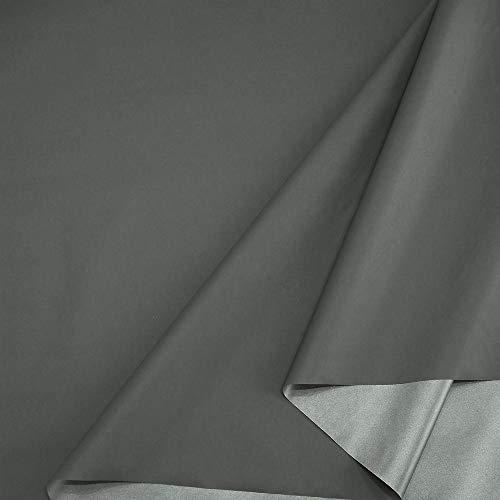 TOLKO Sonnenschutz Stoff mit Silber Thermo-Beschichtung | Verdunklungsstoff mit hoher Lichtdichte | Fensterfolie Hitzeschutz Verdunklungsfolie für Verdunklungsvorhänge Gardinen Meterware (Anthrazit)