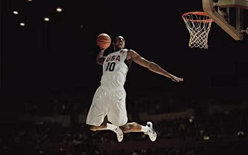 JIANGGE the great superstar canvas poster 24 and 8 jerseys 50X70cm frameless basketball star Kobe Bryant basketball star