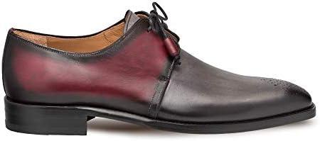 Mezlan Montes Mens Luxury Lace Up Dress Shoes Classic 2 Eyelet Plain Toe Blucher with Two Toned product image