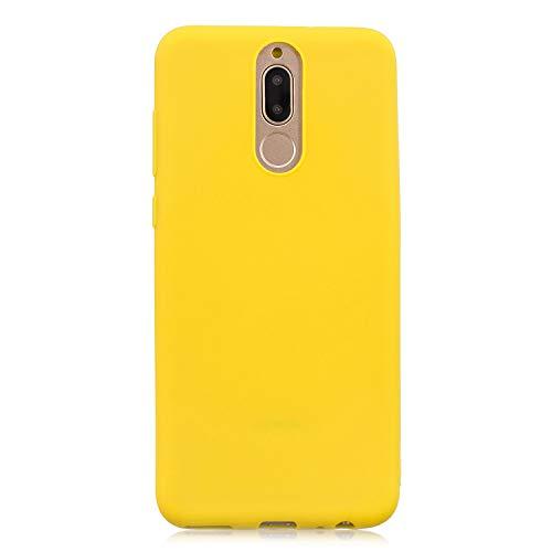 cuzz Custodia Huawei Mate 10 Lite+{Film di Vetro temperato}Silicone TPU Cover Morbida Protettiva Custodia Ultra Sottile Leggero Cover-Giallo