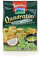 Loacker Quadratin Premium Matcha Green Tea Wafer Cookies, 220g/7.76oz