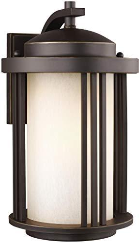 Sea Gull Lighting 8747901EN3-71 Crowell Outdoor Wall Lantern Outside Fixture, Medium One - Light, Antique Bronze