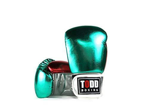 ZXJD Boxhandschuhe Erwachsenen Kinder Profiboxen Boxen Fitness Boxhandschuhe Handschuhe Fitness,Grün,14OZ