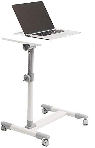 N Mesa Auxiliar Mesa Baja Mesa Lateral móvil Laptop Stand de Escritorio Ajustable en Altura 58-88cm 4 Ruedas (con Bloqueo de Dispositivos) Mesa De Café