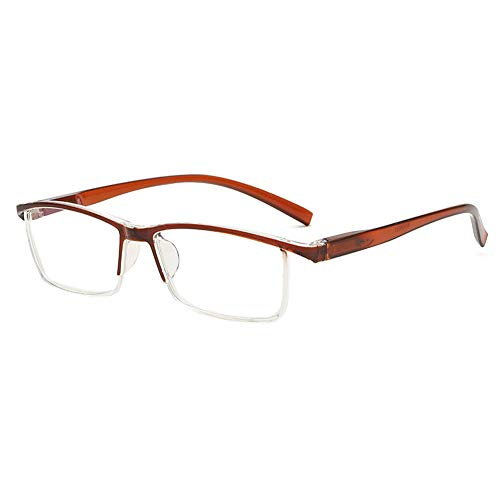 Vesmondo Anti Blue Light Computer leesbril voor heren en dames, halve bril, blauw lichtfilter, modern veerscharnier halfronde bril met sterkte