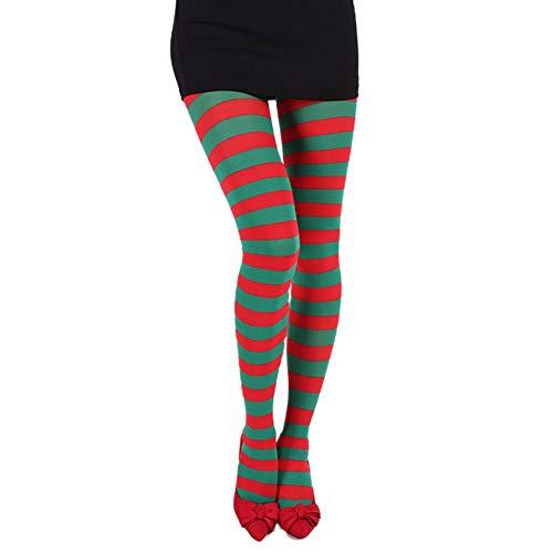 Neckip Gestreifte Strümpfe, Weibliche Gestreifte Strumpfhosen, Stretch-Socken Halloween-Rollenspiel Requisiten Weihnachtsfeier Kostüm Requisiten