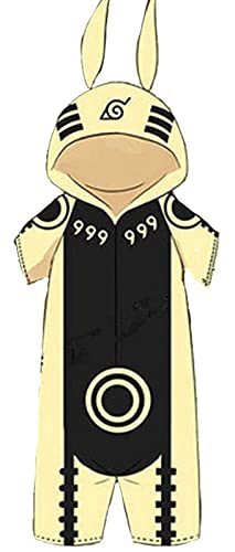Onesie Pijamas, Anime Japanese Ninja Hokage de los Hombres Niños All in One Disfraces Cosplay Loungewear Ropa de Dormir Albornoz