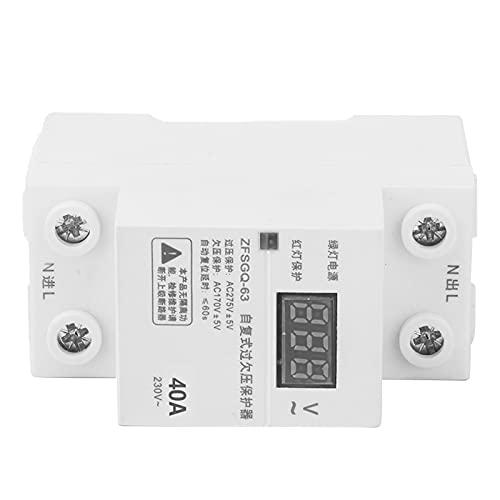 Estable por encima del protector de voltaje, 10a, 16a, 20a, 25a, 32a, dispositivo de protección 40a ≤60s Tiempo de reinicio automático Ajustable Reconexión automática de plástico hecho de plástico