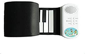 KikerTech Roll Up Piano | Premium Grade Silicone | THICKENED KEYS | Upgraded Built-in Speakers - Educational Piano Keyboard (49 Keys)