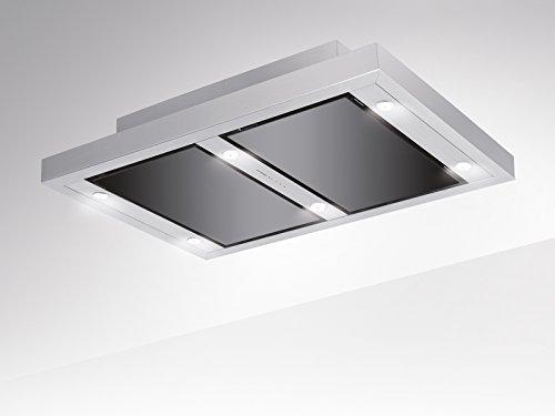 Silverline VGUD 124.1 SRA Vega AC - Campana extractora de techo (120 cm, según la normativa de la UE 65/2014, las cubiertas de aire puro no requieren etiquetado)