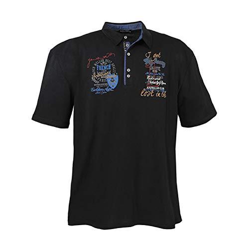 Lavecchia Übergrößen Poloshirt Kollektion Sommer 2016 in schwarz 3Xl - 7XL Größe 7XL Schwarz