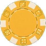 DA VINCI 50 Clay Composite Dice Striped 11.5 Gram Poker Chips, Yellow