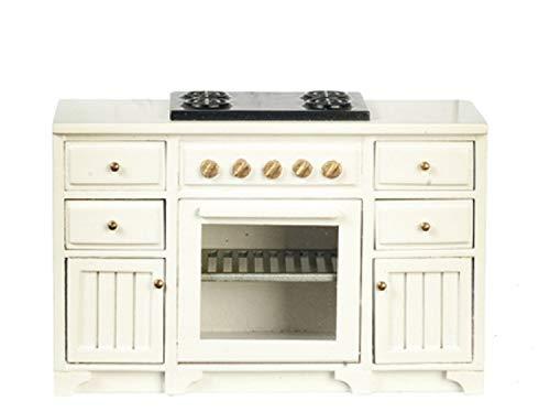 Melody Jane Dolls Houses Dollhouse White Oven & Hob Unit Stove JBM Miniature Kitchen Furniture