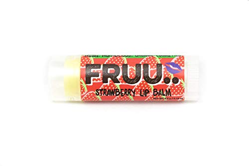 FRUU.. Strawberry Scent Calming And Hydrating Lip Balm, Matt Look, Suitable For Sensitive Skin, Cruelty Free And Vegan, 4.5g