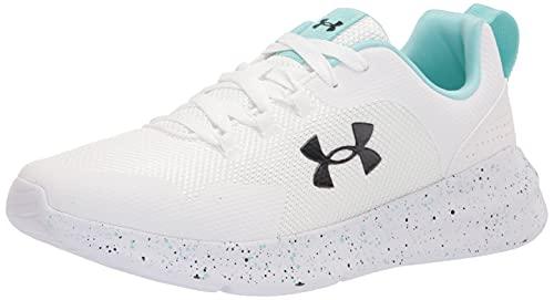 Under Armour Women's Essential PNTSPL Running Shoe, White (100)/White, 8.5