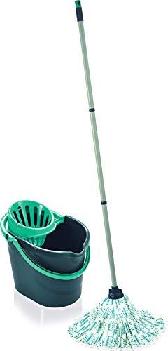 Leifheit 55261 - Kit Classic Mop - Juego de Limpieza - Edición 60 años, tamaño único, Edition Color : Rose, Vert Lagoon Ou Bleu, Talla única