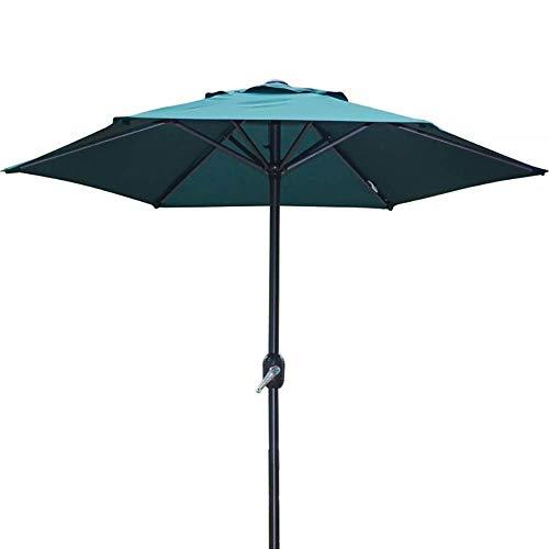 AJH Parasols de Jardin Parapluie de Table extérieur 6 Pieds avec 6 Nervures Robustes, Parfait pour Patio/Jardin/Cour/Piscine, Conception à manivelle