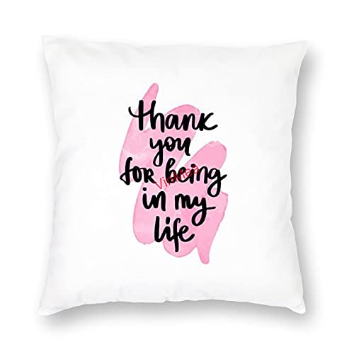 VinMea Decorative Pillow Covers Love Quote 2 Cushion Covers for Sofa Bedroom Home Office Decor 16x16 Inch