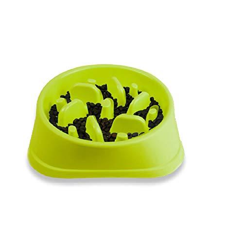 Decyam langsame Fütterung Hundenapf, Interessanter interaktiver Hundenapf, langlebige ungiftige und umweltfreundliche Bambusfaser Futterschüssel