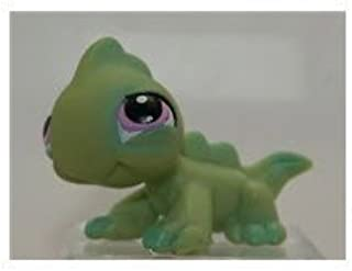 Hasbro Littlest Pet Shop Iguana # 79 Lizard Gecko (Green with Lavender Purple Eyes) - LPS Loose Figures - Replacement Pets - LPS Collector Toy (Out of Package/OOP)