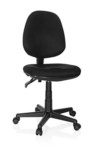 hjh OFFICE 666101 Home-Office Bürostuhl City 25 Stoff Schwarz Drehstuhl, Sitzfläche & Rückenlehne höhenverstellbar