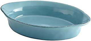 Rachael Ray Cucina Stoneware 2 qt. Baking Dish in Agave Blue