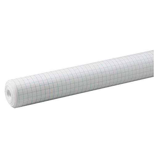 Pacon Grid Paper Roll, White, 1/2' Quadrille Ruled 34' x 200', 1 Roll