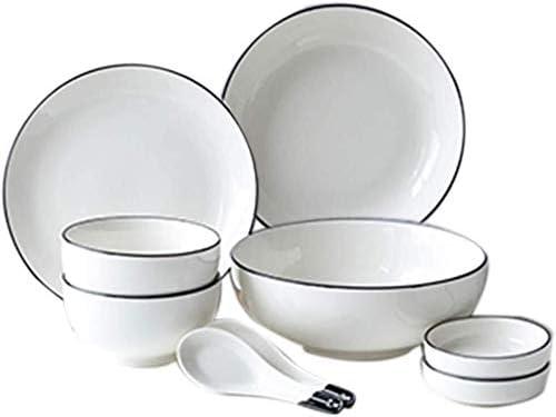 9 Piece Popular popular Oklahoma City Mall Set Family Bowl Tableware Plate Household Dish Rice