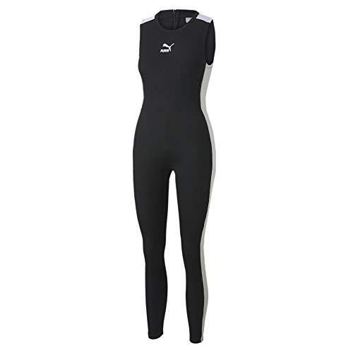 PUMA Damen Classics T7 Shortsleeve Tight Jumpsuit Overall, Black, XL, Puma Black