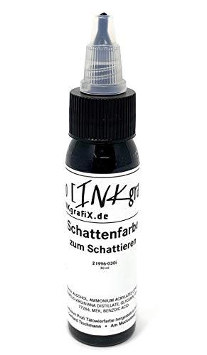 Inkgrafix Allemand Couleurs de Tatouage - Schattenfarbe Pour Schattieren - 30ml Blanc - Fabriqué en Allemagne - Premium Couleurs de Tatouage Avec Certificat - Inkgrafix - IG54005 Ma's Umi