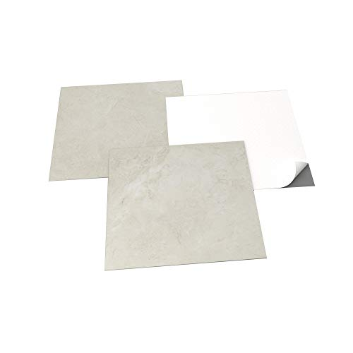 GENERIQUE - PVC Bodenbelag - Selbstklebende Fliesen - Marmoreffekt - Grau/Beige - 2,05m²/22 Fliesen